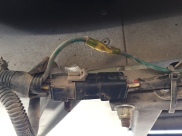 We had to raised up the right side of the van on our leveling blocks to access this wiring harness under the step