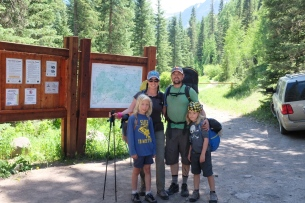 The boys' first backpacking trip, Blue Lakes, Ridgway, Colorado
