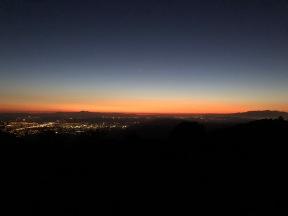 Superb sunset over Temecula
