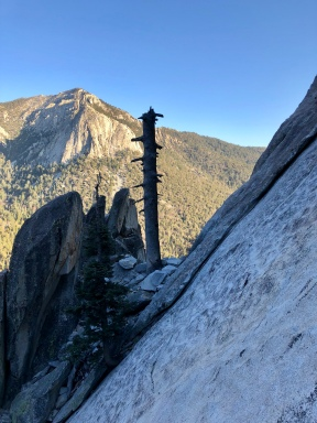Our climb in the foreground, Tahquitz Peak in the background