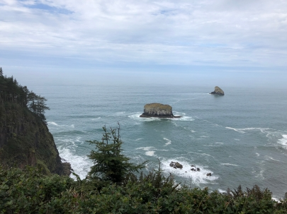 Looking down from Cape Mears